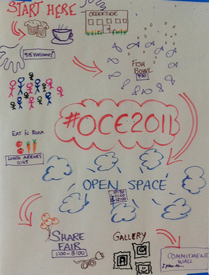 OCE2011 Agenda - photo by @cogdog
