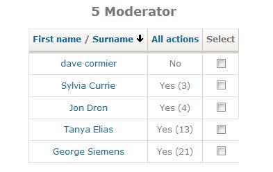 week 1 moderator activity