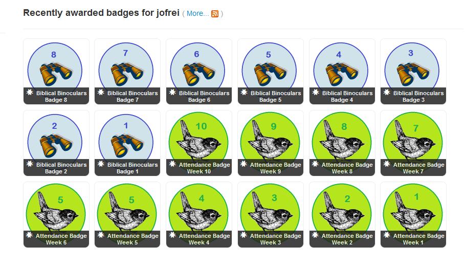 Badges for Birdwatching with Biblical Binoculars