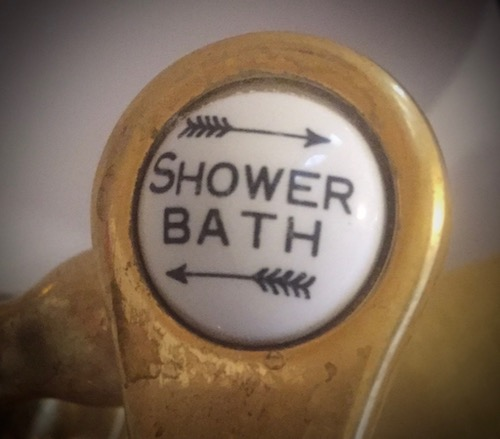 shower or bath knob