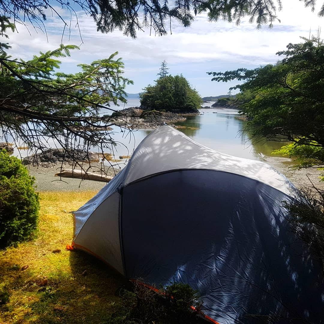 Tent overlooking Lascounne Lagoon