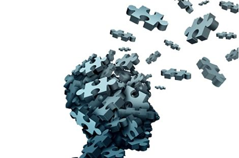 unearing - brain with pieces of puzzle leaving the head